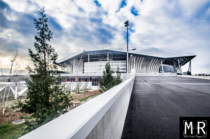 stade OL. Olympique Lyonnais. vue panoramique.