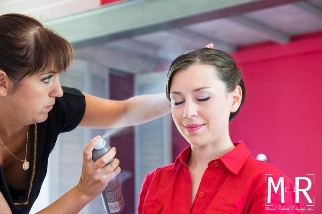 coiffure de la mariée - spray