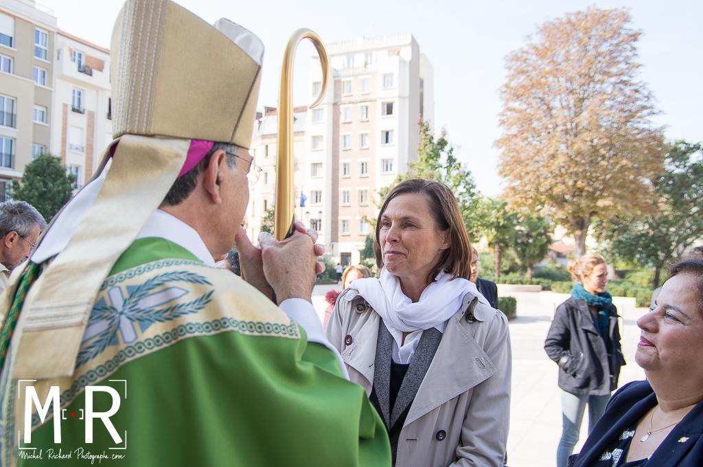 Monseigneur Aupetit et Isabelle Debré, vice-présidente du Sénat