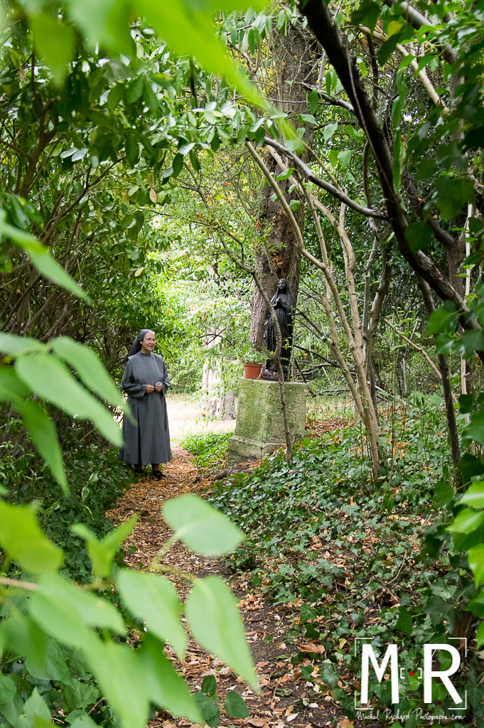Monastère, bénédictines, jardin