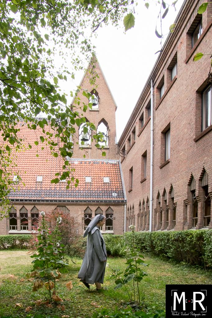Monastère, bénédictines, cloitre et clocher